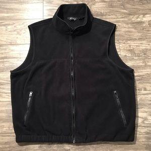 Eddie Bauer Full Zip Fleece Vest Mens XL Black
